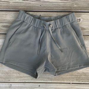 Lululemon Grey Sage Elastic Waist Shorts.